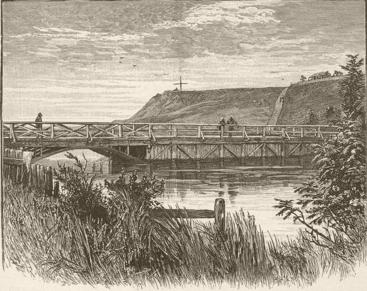 Associate Product AUSTRALIA. West Ports of Victoria. bridge, Portland 1890 old antique print