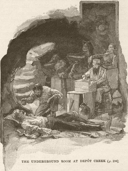 Associate Product AUSTRALIA. Underground room, Depot Creek 1890 old antique print picture