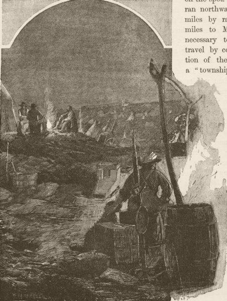 Associate Product AUSTRALIA. Teetulpa Goldfield. Night 1890 antique vintage print picture