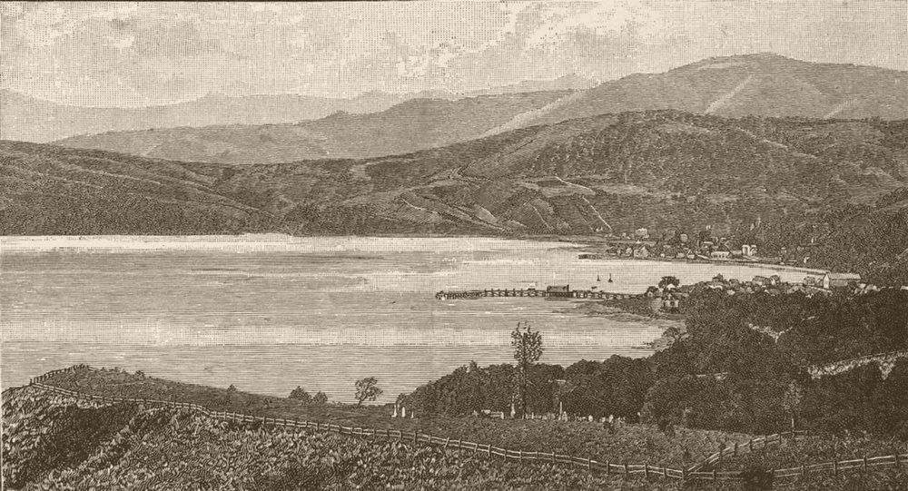 Associate Product NEW ZEALAND. Ports. Ports. Akaroa 1890 old antique vintage print picture