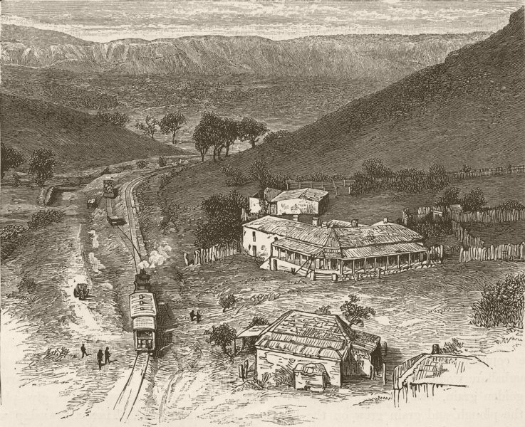 AUSTRALIA. Adelaide. Saltia 1890 old antique vintage print picture