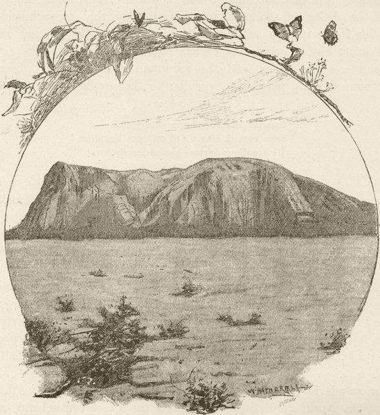 Associate Product AUSTRALIA. Adelaide. Mount Remarkable 1890 old antique vintage print picture