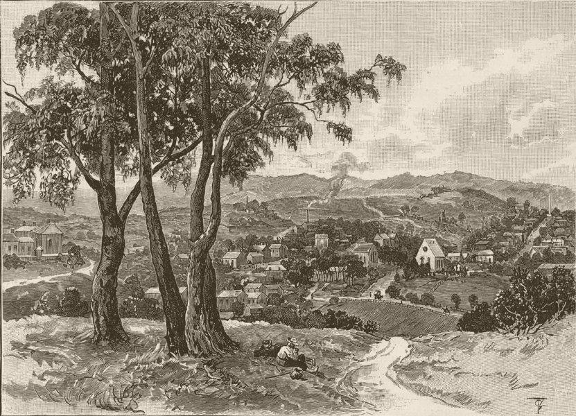 Associate Product AUSTRALIA. Victoria. Castlemaine 1890 old antique vintage print picture