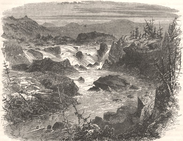 Associate Product USA. Falls of the Potomac c1880 old antique vintage print picture
