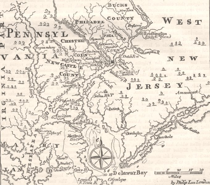 Associate Product PENNSYLVANIA. & West New Jersey c1880 old antique vintage map plan chart