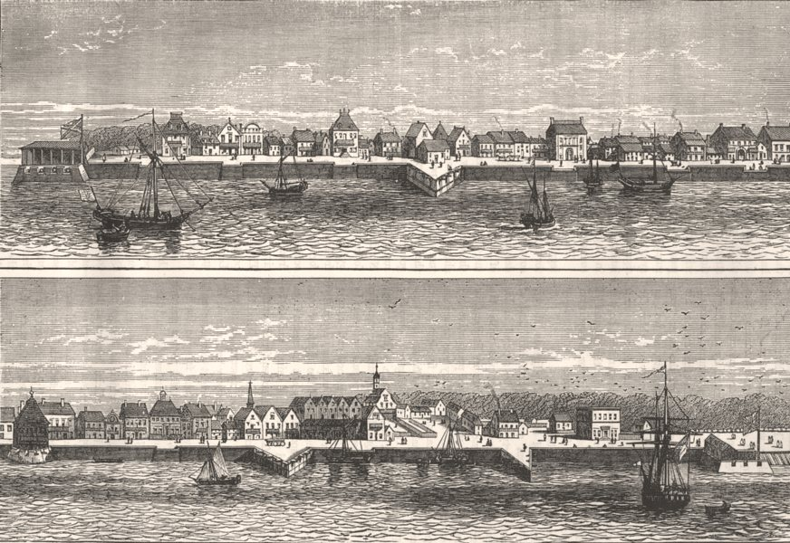 Associate Product USA. Old view of Charlestown c1880 antique vintage print picture