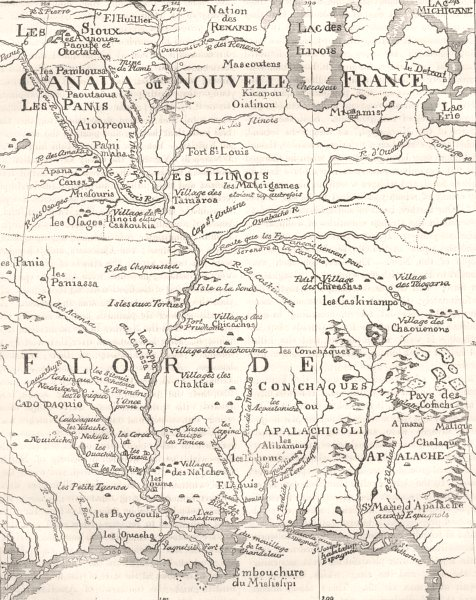 Associate Product MISSISSIPPI. Course of c1880 old antique vintage map plan chart