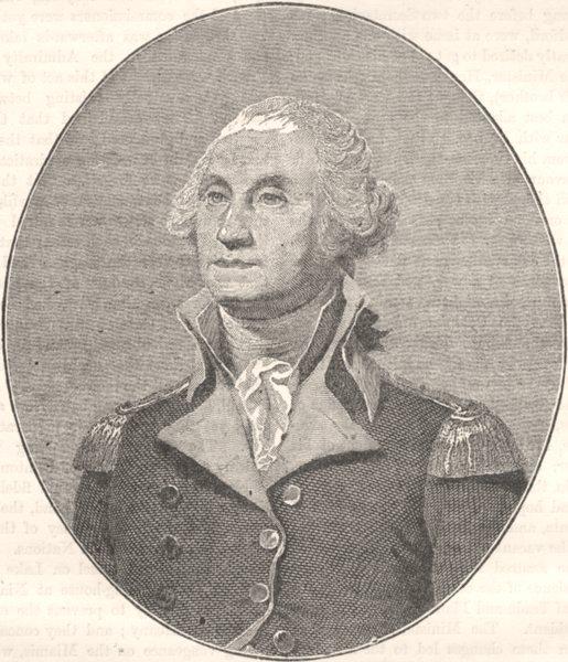 Associate Product WASHINGTON. George Washington c1880 old antique vintage print picture