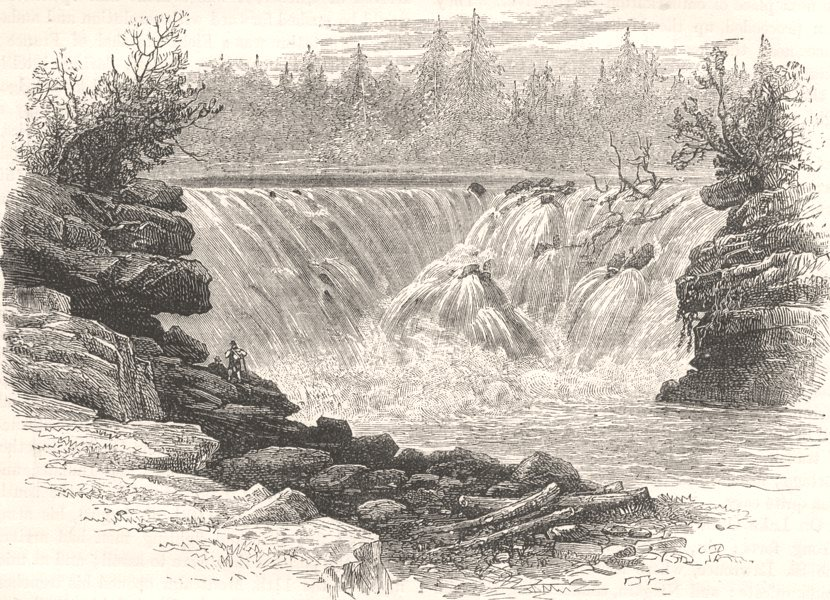 Associate Product CANADA. Falls of the St John River c1880 old antique vintage print picture