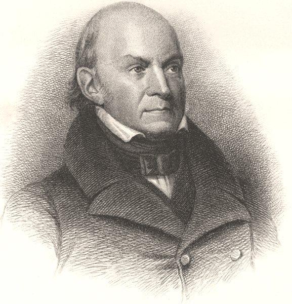 Associate Product POLITICS. John Quincy Adams c1880 old antique vintage print picture