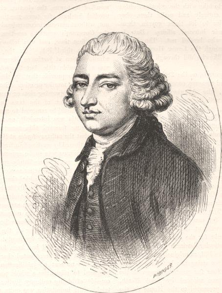 Associate Product POLITICS. Edmund Burke(Joshua Reynolds) c1880 antique print picture