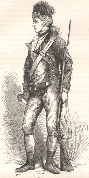 Associate Product USA. A real American rifleman, 1780 c1880 old antique vintage print picture