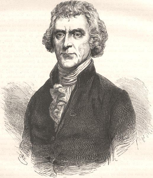 Associate Product POLITICS. Thomas Jefferson c1880 old antique vintage print picture