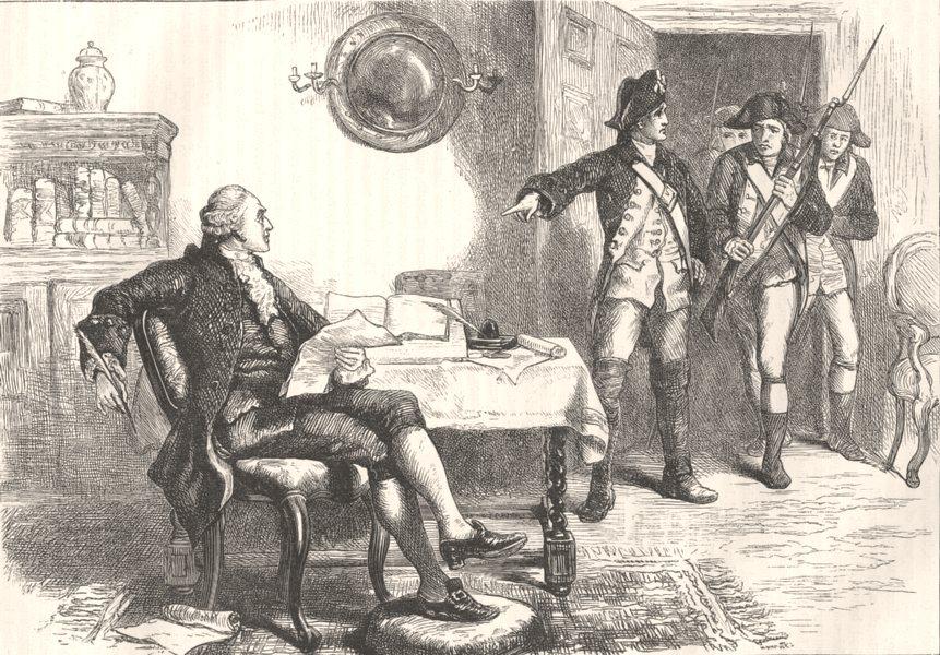 POLITICS. Arrest of William Franklin c1880 old antique vintage print picture