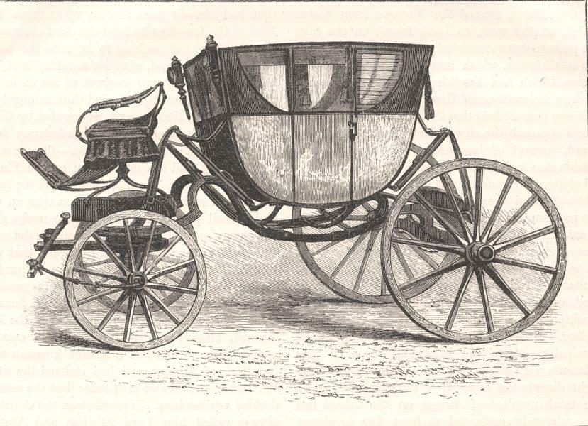 Associate Product WASHINGTON. Washington's coach c1880 old antique vintage print picture