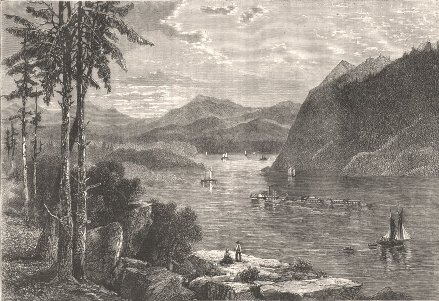 Associate Product NEW YORK. The Hudson Highlands c1880 old antique vintage print picture