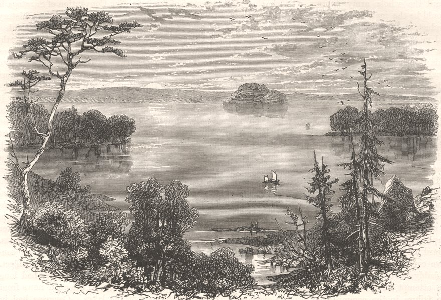 Associate Product NEW YORK. Saratoga Lake c1880 old antique vintage print picture