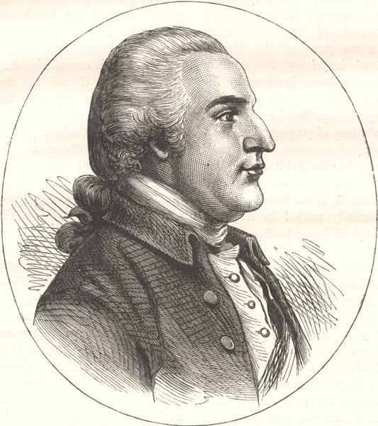Associate Product GEN ARNOLD. Portrait, autograph-Du Similier, 1783 c1880 antique print