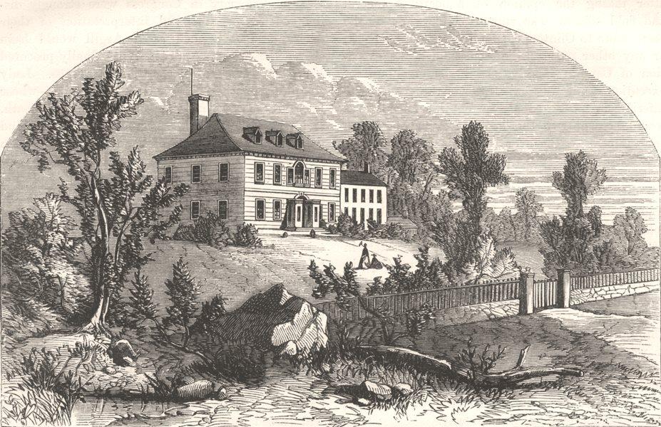 Associate Product NEW JERSEY. Washington's quarters, Morristown c1880 old antique print picture