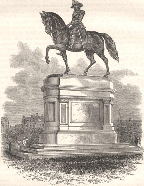 Associate Product WASHINGTON. Statue of, Boston c1880 old antique vintage print picture