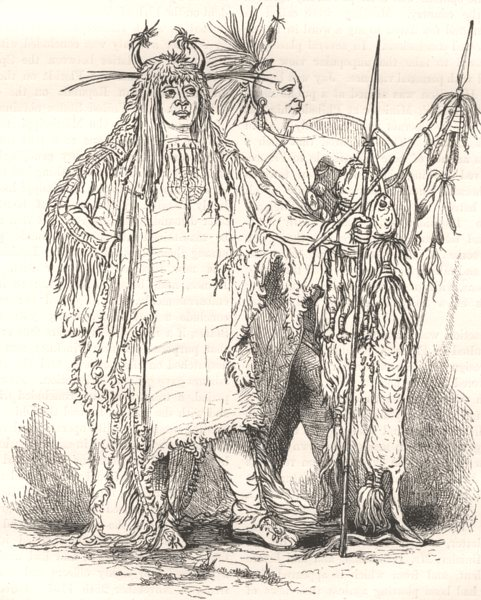 Associate Product USA. Group of Frontier Indians c1880 old antique vintage print picture