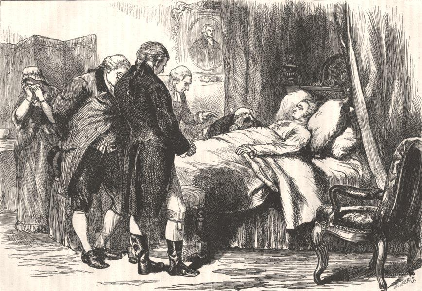 Associate Product WASHINGTON. His death-bed c1880 old antique vintage print picture