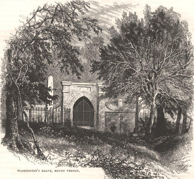 Associate Product WASHINGTON. Washington's Grave, Mount Vernon c1880 old antique print picture