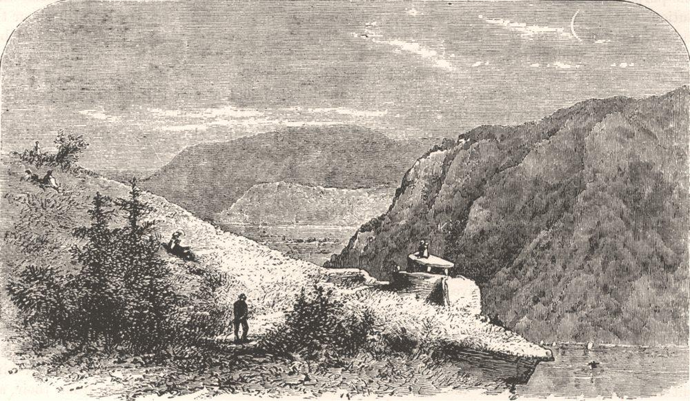 Associate Product WEST VIRGINIA. Jefferson's Rock, Harper's Ferry  c1880 old antique print