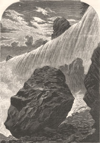 CANADA. Niagara Falls(Western Side) c1880 old antique vintage print picture
