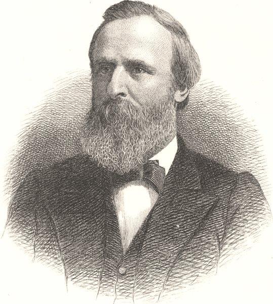Associate Product POLITICS. Rutherford B Hays c1880 old antique vintage print picture