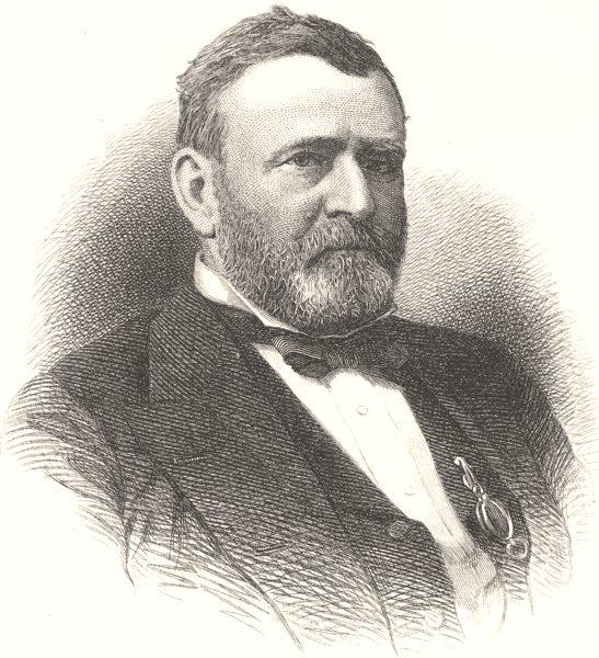 Associate Product POLITICS. Ulysses S Grant c1880 old antique vintage print picture