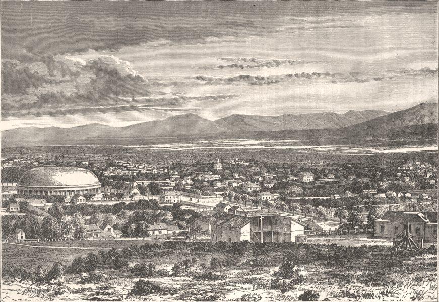 UTAH. Great Salt Lake City c1880 old antique vintage print picture