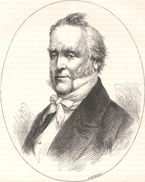 Associate Product POLITICS. President Buchanan c1880 old antique vintage print picture