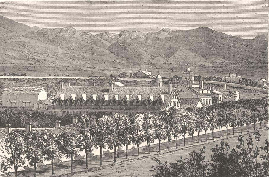 Associate Product UTAH. House of Brigham Young, Salt Lake City c1880 old antique print picture