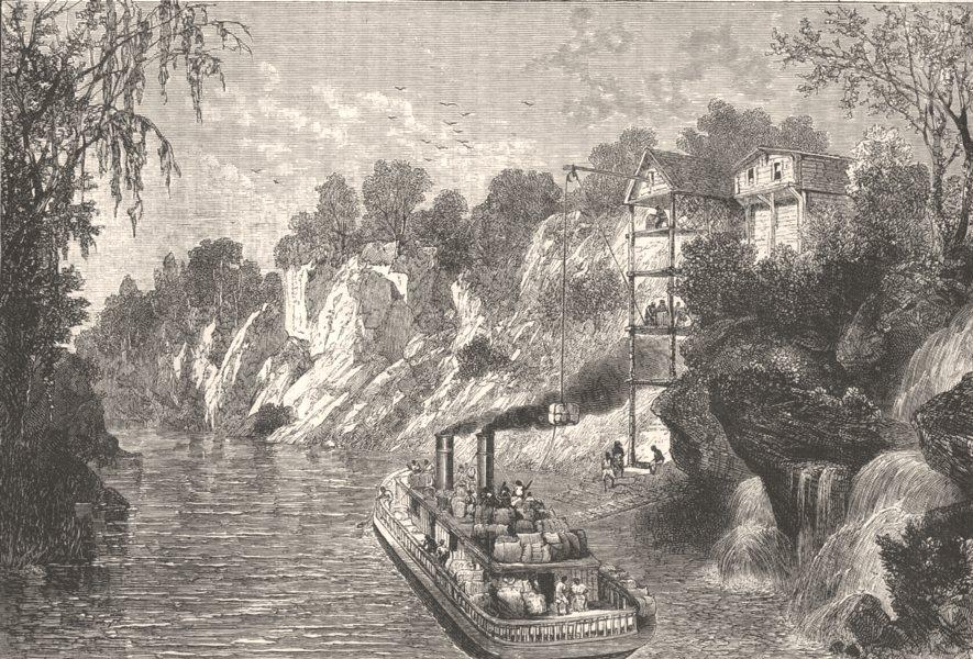 Associate Product USA. Civil War. Loading cotton ship(Mias Hopley) c1880 old antique print