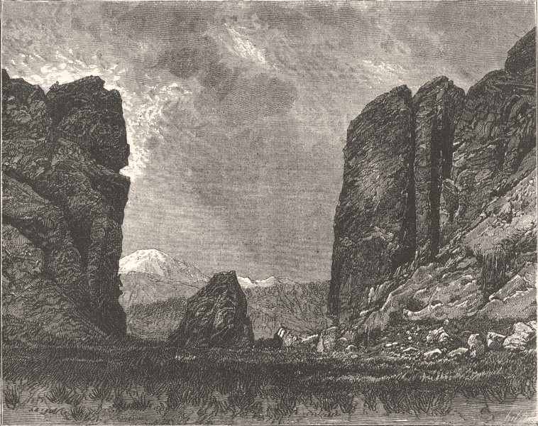 Associate Product COLORADO. Civil War. Gate of Garden Gods c1880 old antique print picture
