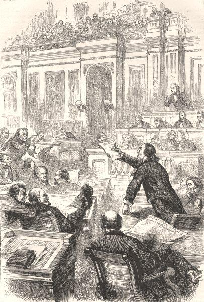 Associate Product WASHINGTON DC. Civil War. Representatives c1880 old antique print picture