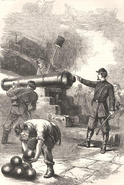 Associate Product SOUTH CAROLINA. Civil War. Defence of Ft Sumter c1880 old antique print