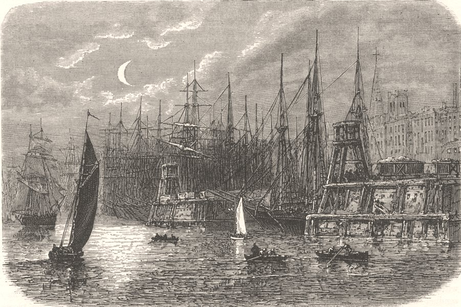 Associate Product VIRGINIA. Civil War. Port of Richmond c1880 old antique vintage print picture