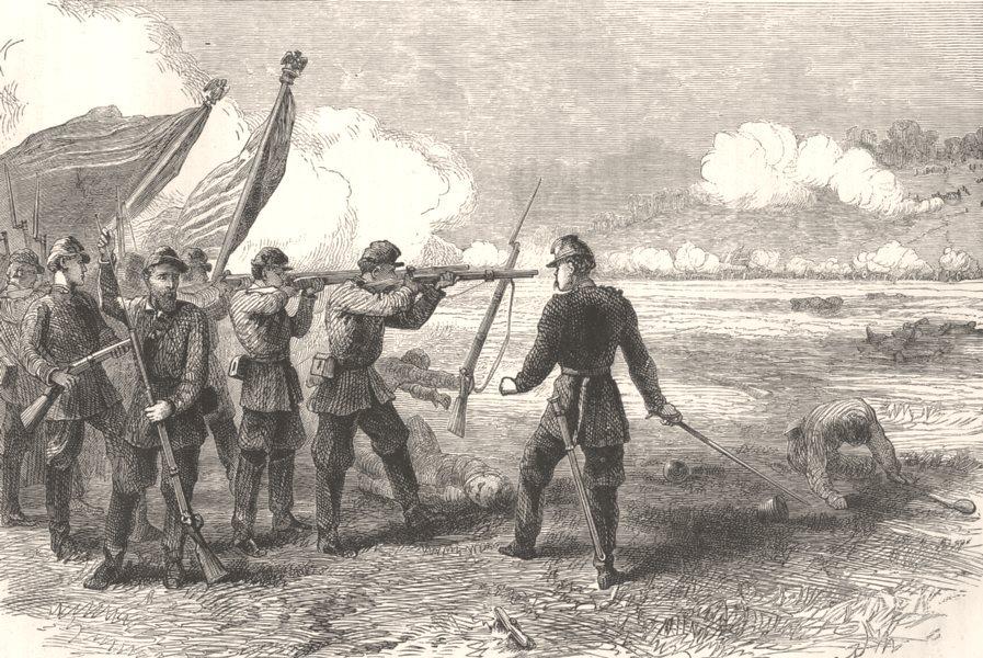 VIRGINIA. Civil War. Bull Run c1880 old antique vintage print picture