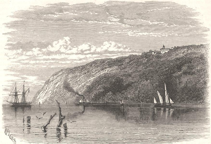 Associate Product USA. Civil War. Potomac below Washington c1880 old antique print picture