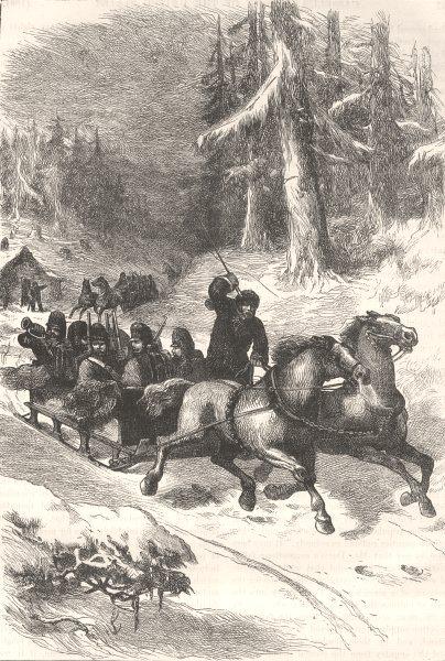 Associate Product CANADA. Civil War. British troops through c1880 old antique print picture