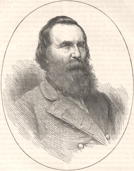 Associate Product MILITARIA. Civil War. General Longstreet c1880 old antique print picture