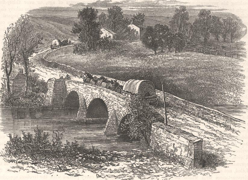 Associate Product MARYLAND. Civil War. Antietam Bridge c1880 old antique vintage print picture