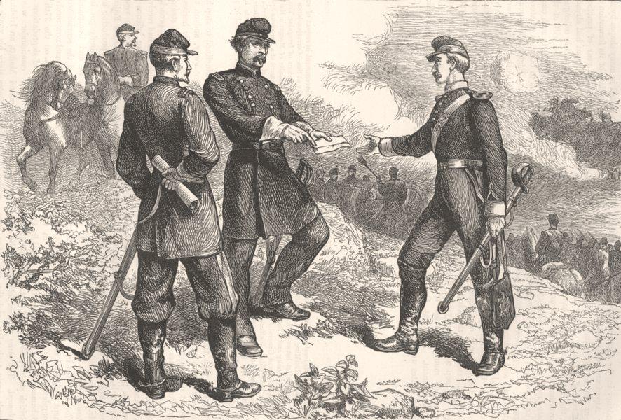 Associate Product MARYLAND. Civil War. McClellan, Antietam c1880 old antique print picture