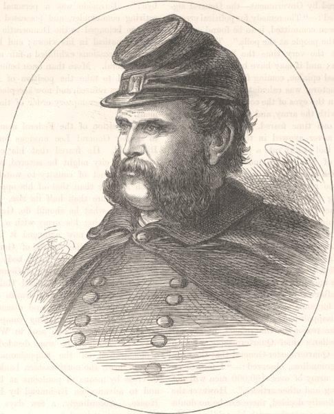 Associate Product MILITARIA. Civil War. General Burnside c1880 old antique vintage print picture