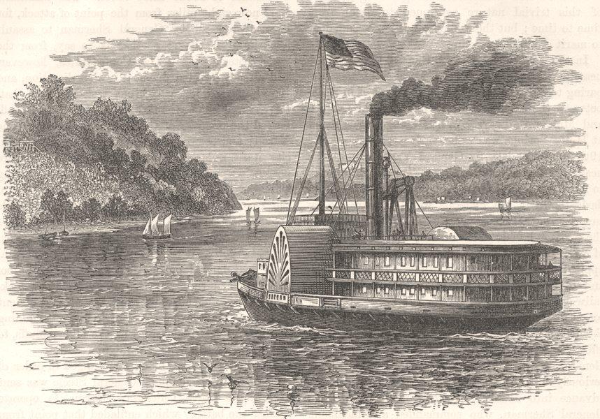 Associate Product USA. Civil War. On the Potomac c1880 old antique vintage print picture