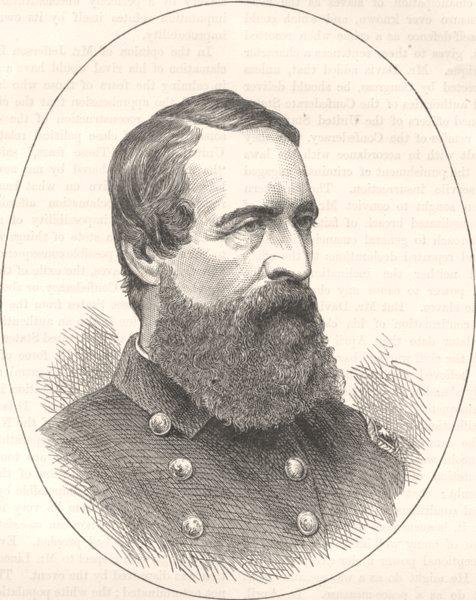 Associate Product MILITARIA. Civil War. Admiral Porter c1880 old antique vintage print picture