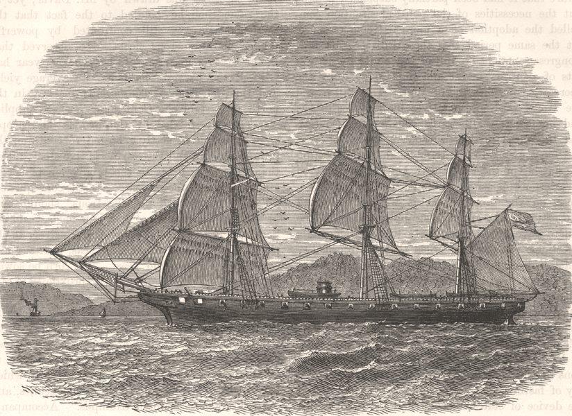Associate Product USA. Civil War. Hartford(Adm Farragut's flagship) c1880 old antique print