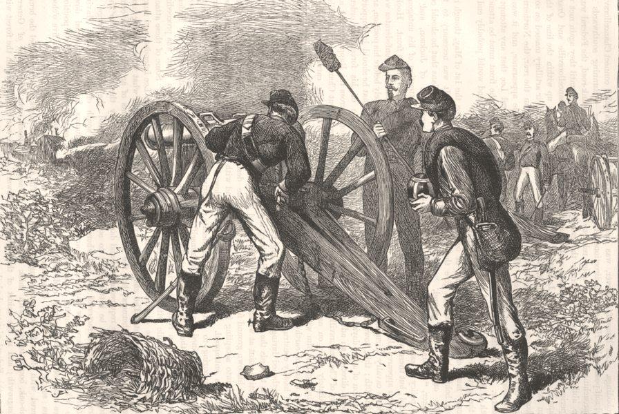 Associate Product VIRGINIA. Civil War. Chancellorsville c1880 old antique vintage print picture